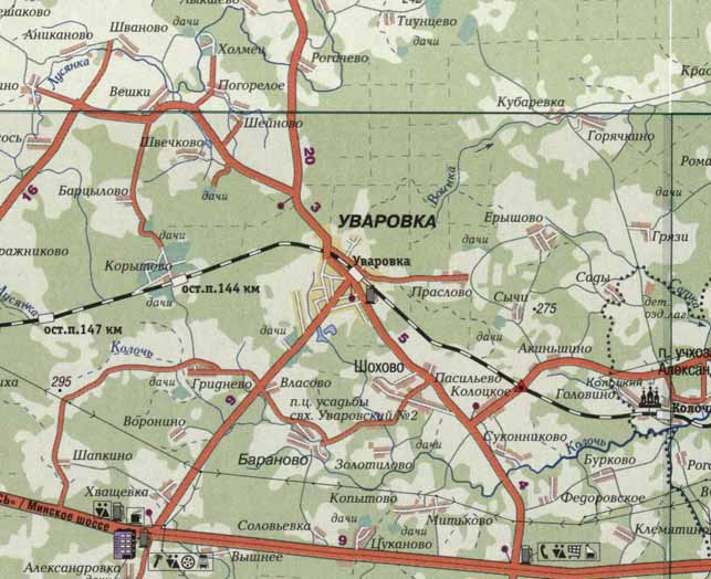 Окрестности поселка Уваровка Можайского района